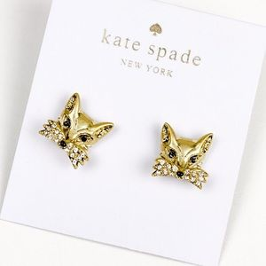 Kate spade golden fox earrings